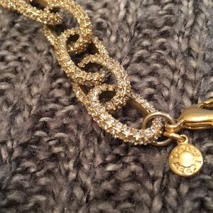 J.Crew gold and crystal link bracelet